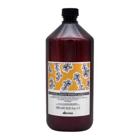 Davines Naturaltech Nourishing Keratin Wonder Superactive 1000ml - Maschera ristrutturante per capelli danneggiati