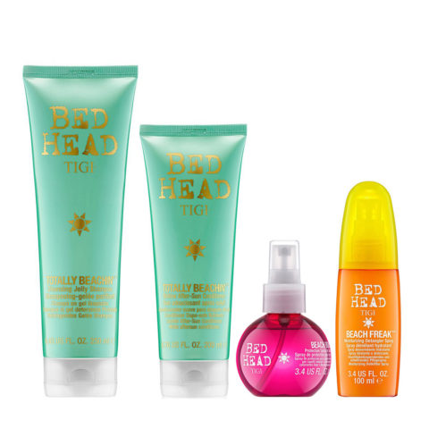 Tigi Bed Head Totally Beachin' Kit Shampoo 250ml Balsamo 200ml Spray Protezione 100ml Spray Districante 100ml