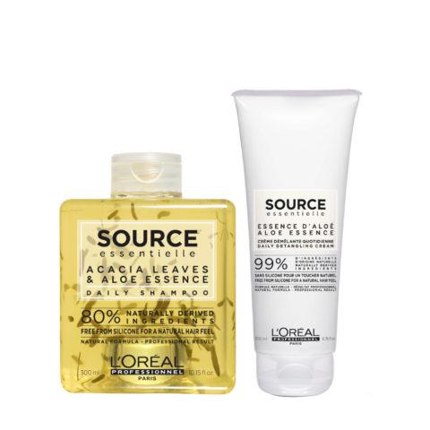 L'Oréal Source Essentielle Daily Shampoo 300ml e Balsamo 200ml Uso frequente