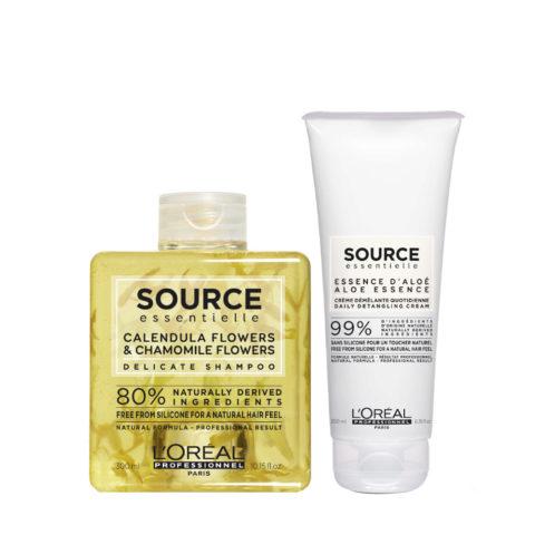 L'Oréal Source Essentielle Shampoo Delicato camomilla e calendula 300ml e Balsamo 200ml