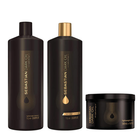Sebastian Dark Oil Shampoo 1000ml Balsamo 1000ml Maschera 500ml Idratanti