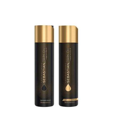 Sebastian Dark Oil Shampoo 250ml e Balsamo 250ml Idratanti e Leggeri