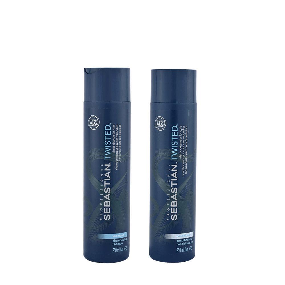 Sebastian Twisted Shampoo 250ml Balsamo 250ml per Capelli Ricci