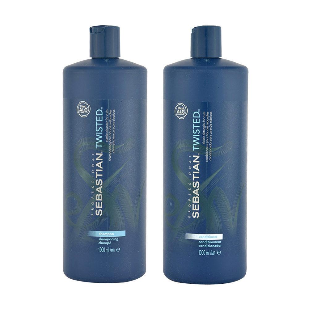 Sebastian Twisted Shampoo 1000ml Balsamo 1000ml per Capelli Ricci