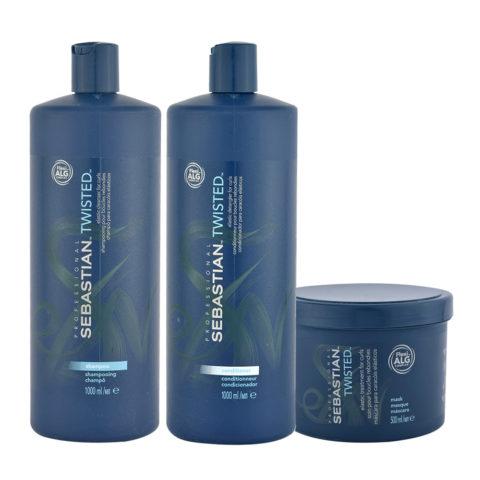 Sebastian Twisted Shampoo 1000ml Balsamo 1000ml Maschera 500ml Capelli Ricci