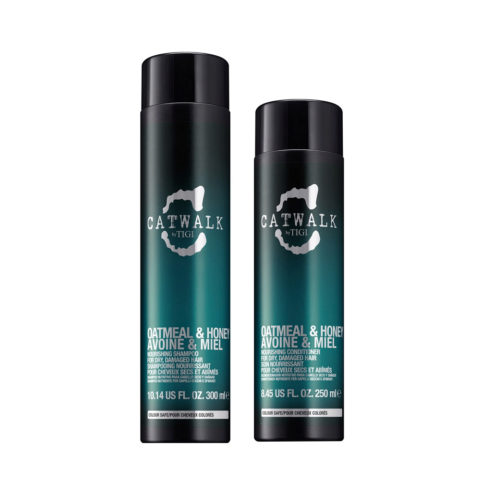 Tigi Catwalk Kit Shampoo 300ml Balsamo 250ml per capelli secchi