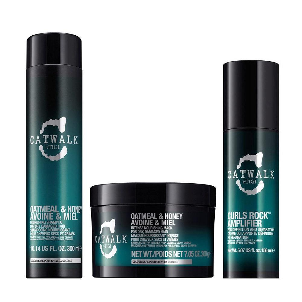 Tigi Catwalk Shampoo 300ml Maschera 200gr Curls Rock Amplifier 150ml