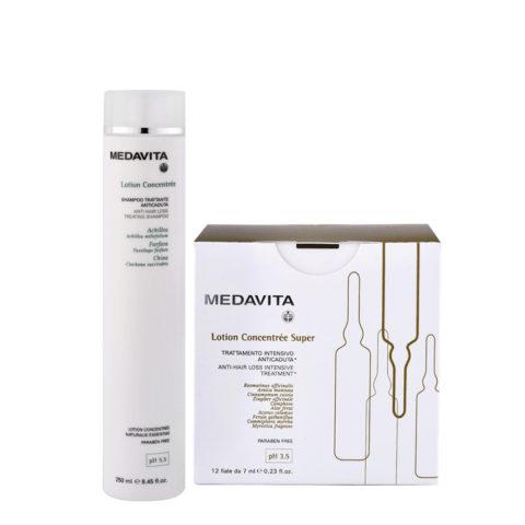 Medavita Cute Lotion Concentree Rituale Anticaduta Shampoo 250ml e Fiale Super 12x7ml