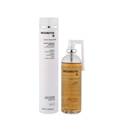 Medavita Cute Lotion Concentree Rituale Anticaduta Shampoo 250ml e Lozione Cute 100ml