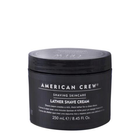 American crew Lather Shave Cream 250ml - crema da rasatura