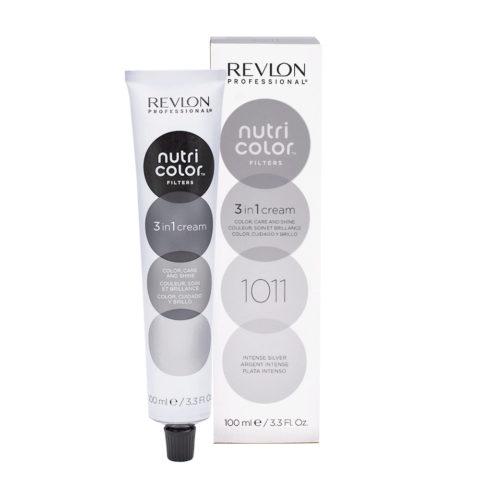 Revlon Nutri Color Creme 1011 Argento intenso 100ml - maschera colore