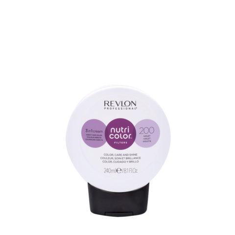 Revlon Nutri Color Creme 200 Viola 240ml - maschera colore