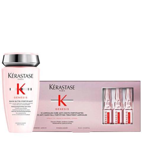 Kerastase Genesis Kit per capelli deboli e secchi  Shampoo 250ml + Fiale Anticaduta 10x6ml