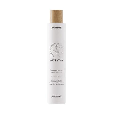 Kemon Actyva Benessere Shampoo Lenitivo Cute Sensibile 250ml