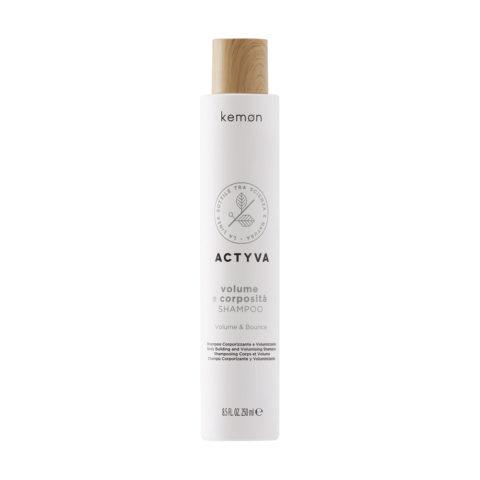 Kemon Actyva Volume E Corposità Shampoo Volume Capelli Fini 250ml