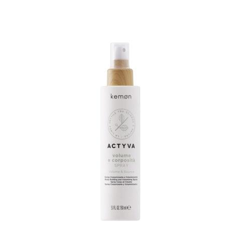 Kemon Actyva Volume E Corposità Spray Volume per Capelli Fini 150ml