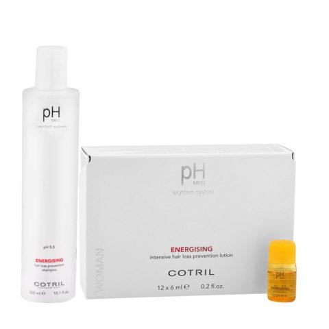 Cotril pH Med Energising Shampoo 300ml Fiale 12x6ml Anticaduta