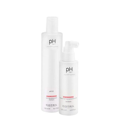 Cotril pH Med Energising Shampoo 300ml Lozione 125ml Anticaduta