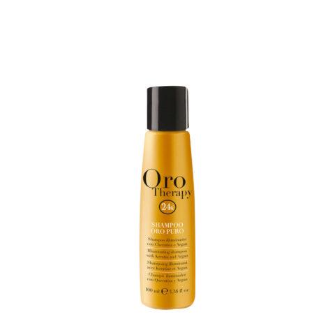 Fanola Oro Therapy Oro Puro Shampoo per tutti i tipi di Capelli 100ml