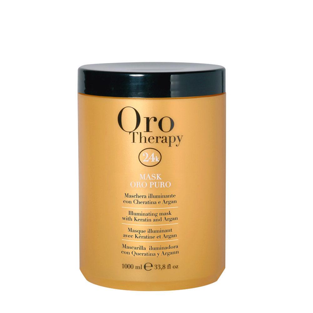 Fanola Oro Therapy Oro Puro Maschera per tutti i tipi di Capelli 1000ml