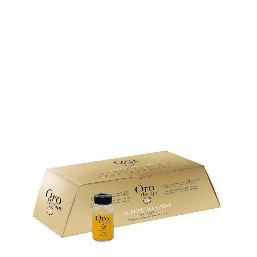 Fanola Oro Therapy Oro Puro Fiale Ristrutturanti per tutti i tipi di Capelli 12x10ml