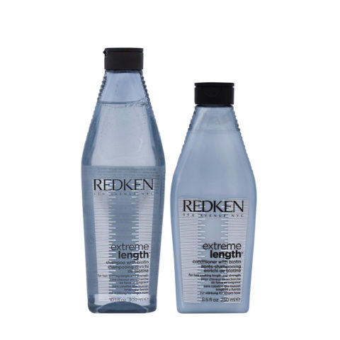 Redken Extreme Length Shampoo 300ml e Balsamo 250ml Fortificanti