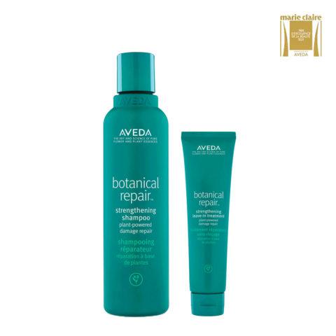Aveda Botanical Repair Shampoo 200ml e Balsamo 200ml Rinforzanti Capelli Danneggiati