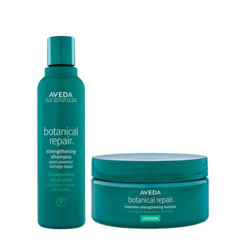 Aveda Botanical Repair Shampoo 200ml e Maschera Intensiva 200ml Rinforzanti Capelli Danneggiati