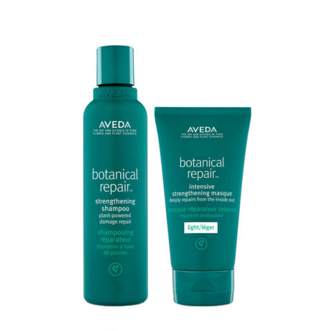 Aveda Botanical Repair Shampoo 200ml e Maschera Leggera 150ml Rinforzanti Capelli Danneggiati
