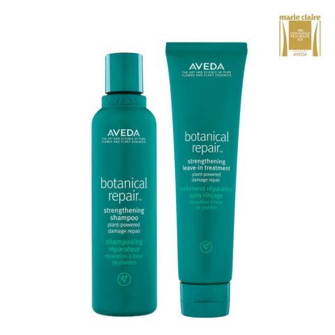 Aveda Botanical Repair Shampoo 200ml e Balsamo senza risciacquo 100ml Rinforzanti Capelli Danneggiati