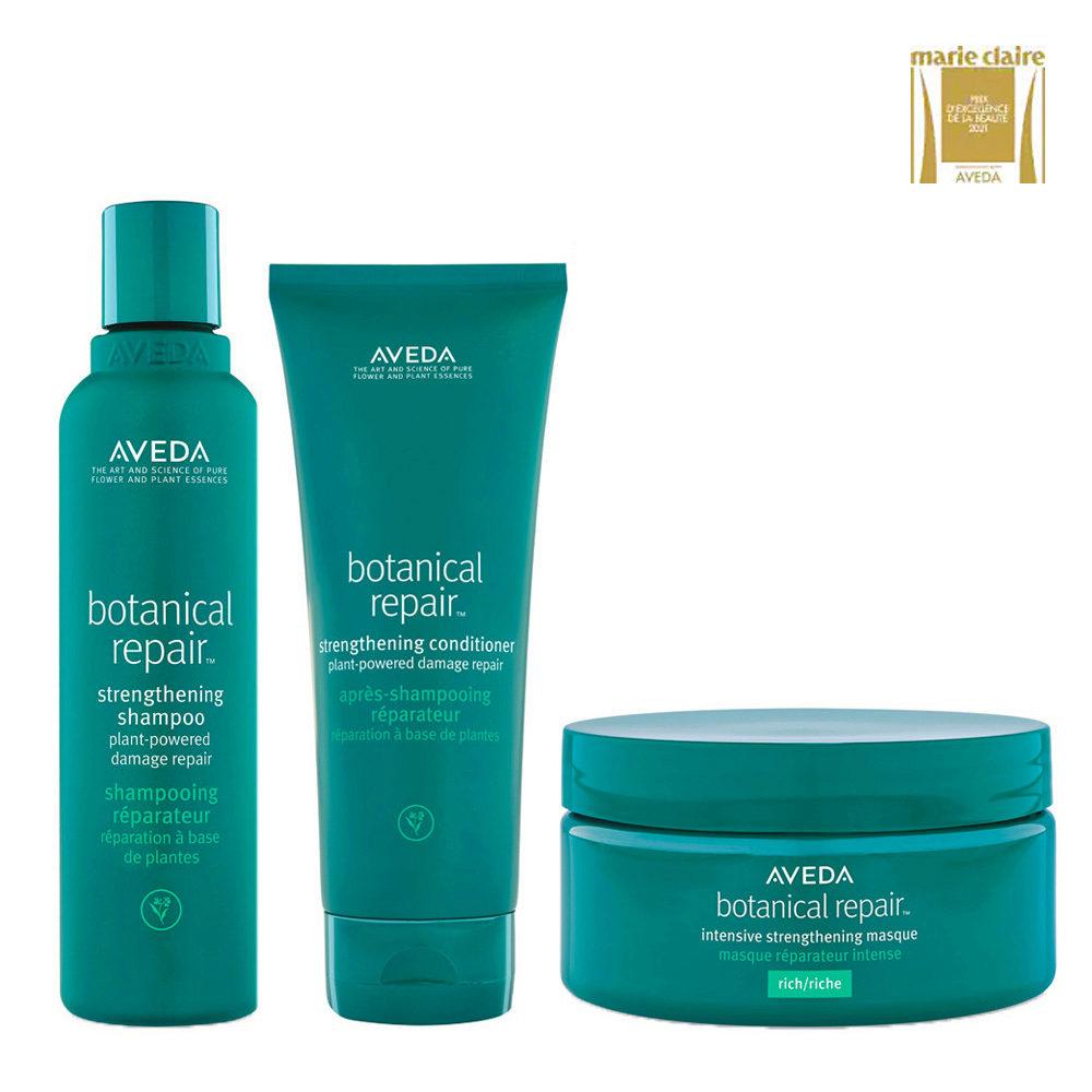 Aveda Botanical Repair Shampoo 200ml Balsamo 200ml Maschera Intensiva 200ml Rinforzanti