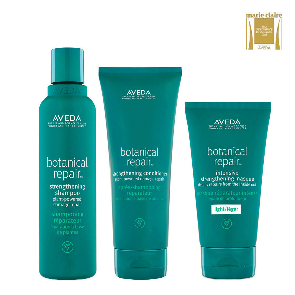 Aveda Botanical Repair Shampoo 200ml Balsamo 200ml Maschera Leggera 150ml Rinforzanti