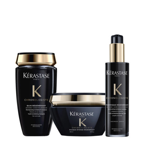 Kerastase Chronologiste Shampoo 250ml Maschera 200ml Crema protettiva 150ml