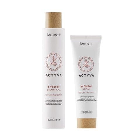 Kemon Actyva P Factor Anticaduta Shampoo 250ml Siero 150ml