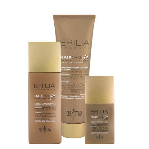Creattiva Erilia Ristrutturante Shampoo 250ml Maschera 300ml Balsamo Spray 150ml