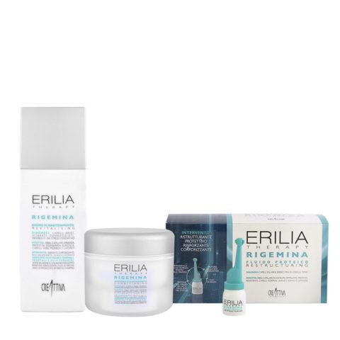 Creattiva Erilia Ristrutturante Shampoo 250ml Maschera 200ml Fiale 10x5ml