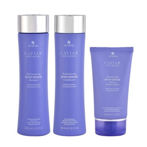 Alterna Caviar Ristrutturante Shampoo 250ml Balsamo 250ml Crema 150ml