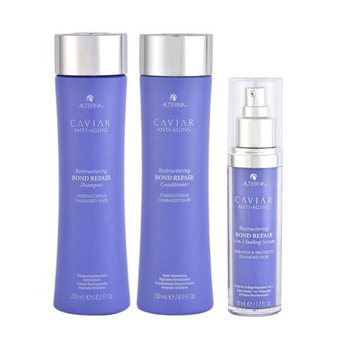 Alterna Caviar Ristrutturante Shampoo 250ml Balsamo 250ml Siero 50ml