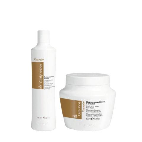 Fanola Curly Shampoo 350ml e Maschera 500ml per Capelli Ricci e Ondulati