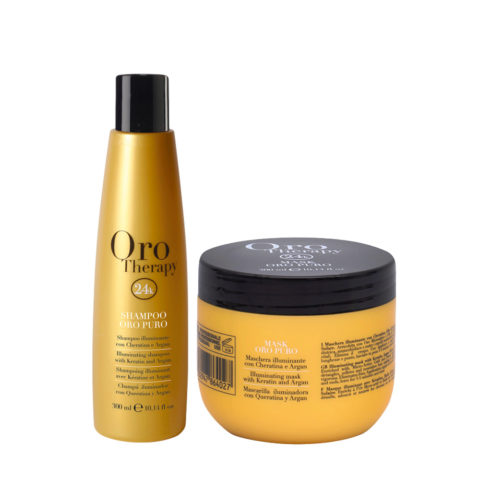 Fanola Oro Puro Shampoo 300ml e Maschera 300ml Illuminanti