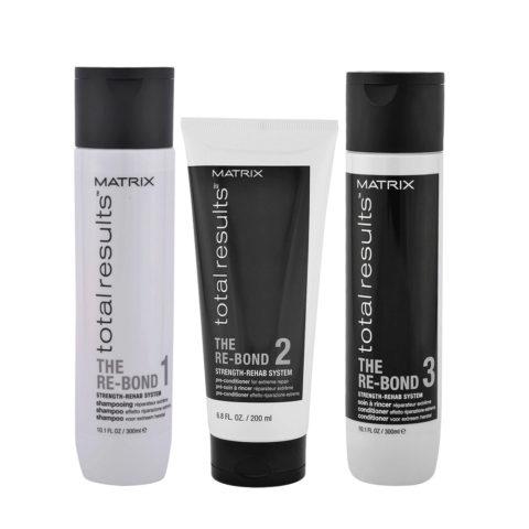 Matrix Capelli Danneggiati Shampoo 300ml Pre Balsamo 200ml Balsamo 300ml