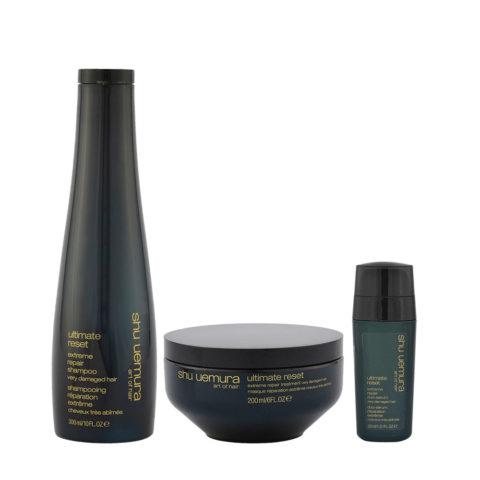 Shu Uemura Shampoo 300ml Maschera 200ml e Siero Doppie punte 30ml