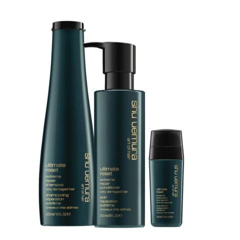 Shu Uemura Shampoo 300ml Balsamo 250ml e Siero Doppie punte 30ml