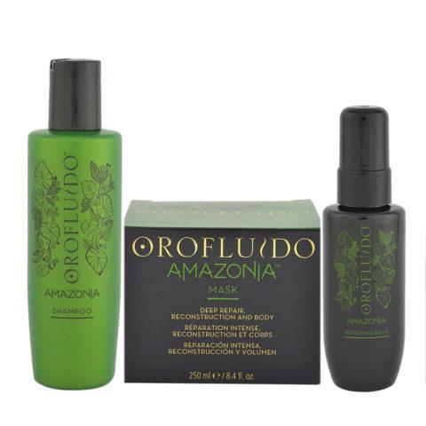 Orofluido Ristrutturante Shampoo 200ml Maschera 250ml Siero 100ml