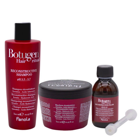 Fanola Botugen Ristrutturante Shampoo 300ml Maschera 300ml Siero 150ml