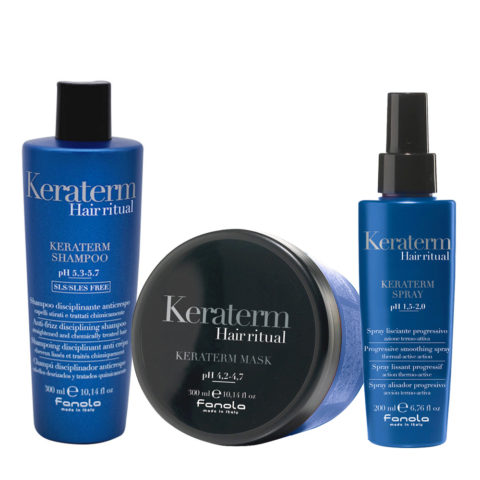 Fanola Keraterm Anticrespo Shampoo 300ml Maschera 300ml Spray 200ml