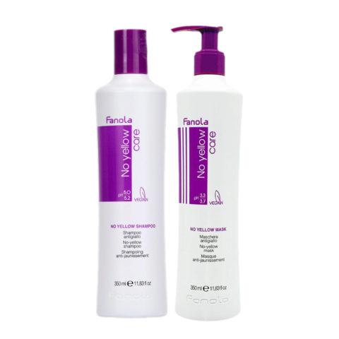 Fanola Antigiallo Shampoo 350ml e Maschera 350ml per Capelli Biondi