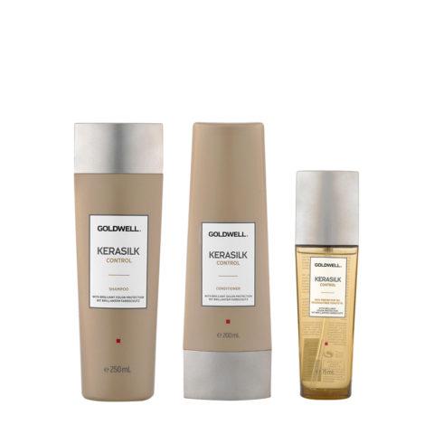 Kerasilk Control Anticrespo Shampoo 250ml Balsamo 200ml Olio 75ml