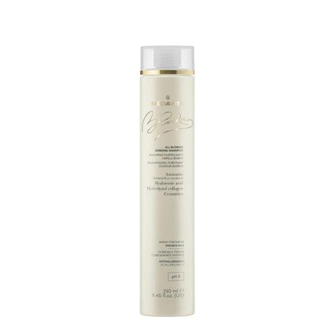 Medavita Blondie Shampoo Fortificante per Tutti i Capelli Biondi 250ml