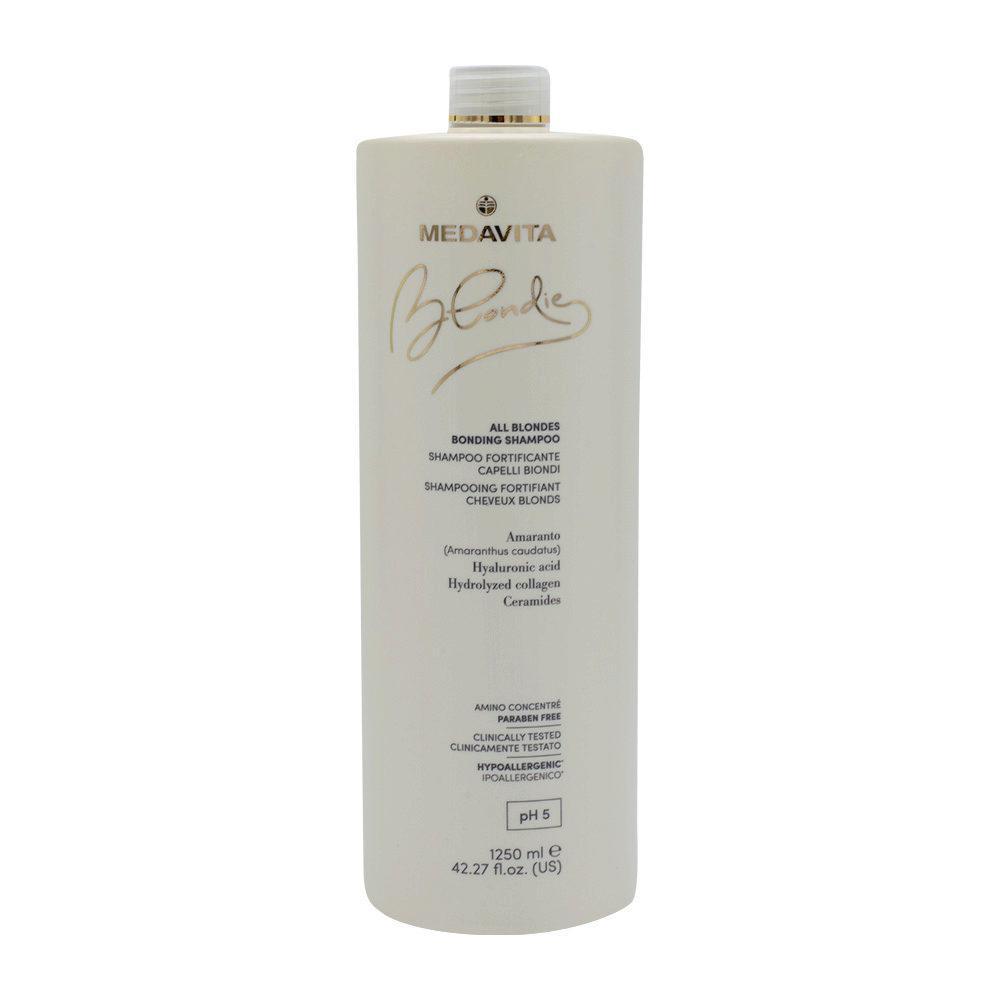 Medavita Blondie Shampoo Fortificante per Tutti i Capelli Biondi 1250ml